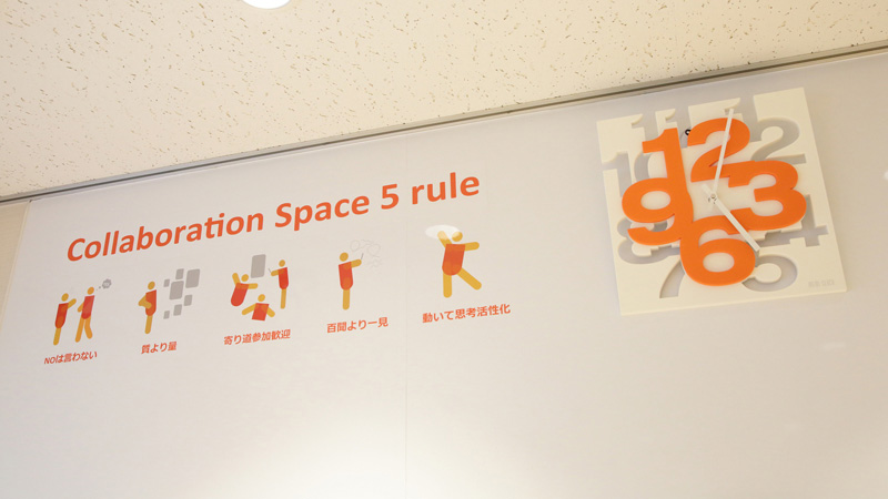 Collaboration Space 5 rule